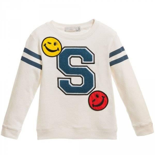 Stella McCartney Kids Unisex Ivory 'Hatch' Sweatshirt
