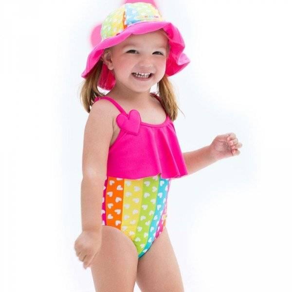 agatha ruiz de la prada baby hearts rainbow swimsuit | dashin fashion