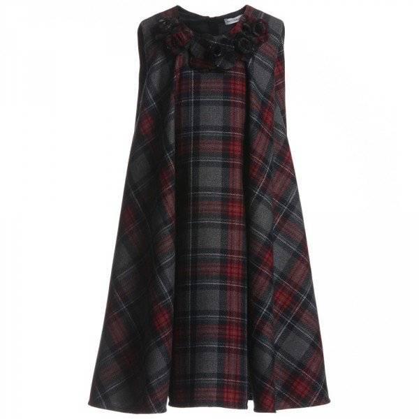 Dolce & Gabbana Red and Grey Tartan Dress