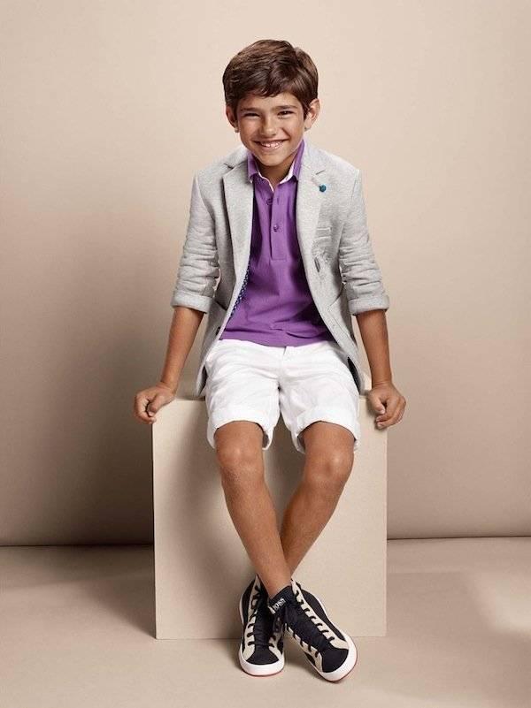 Boss Kidswear Boys Purple Polo Shirt Jacket Shorts SS15