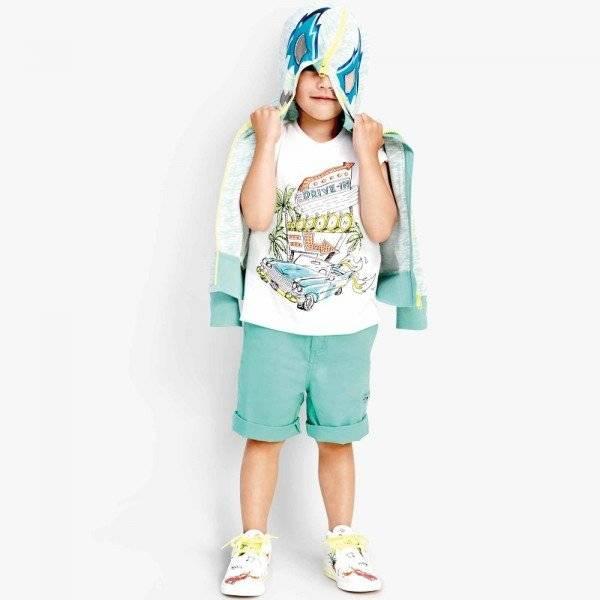 Stella McCartney Kids Boys Green Cotton 'Owen' Shorts