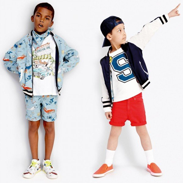 Stella McCartney Kids Boys Reversible 'Eastwood' Varsity Jacket