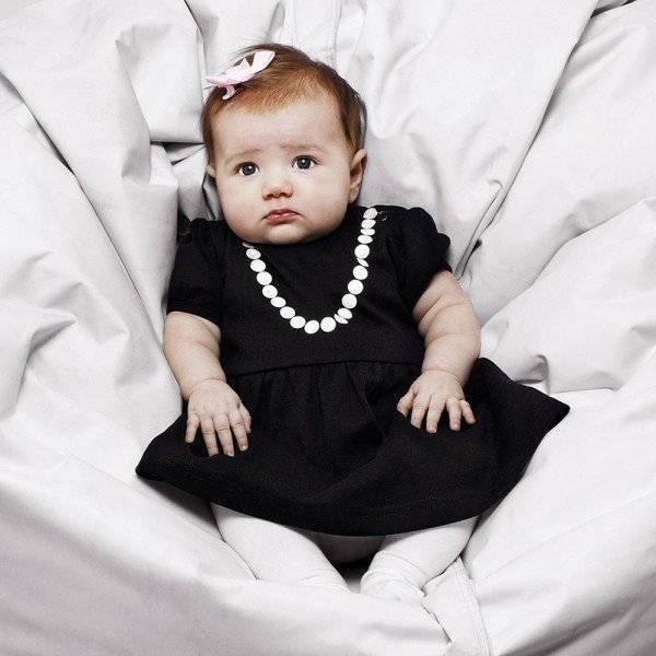 THE TINY UNIVERSE Black 'The Tiny Lady' Jersey Dress