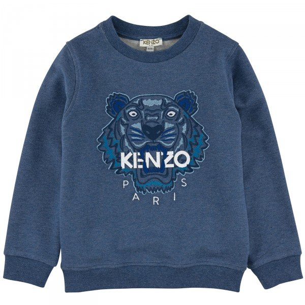 Kenzo Boys Blue Tiger Sweatshirt